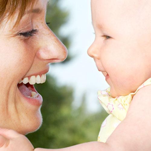 Mum and baby singing