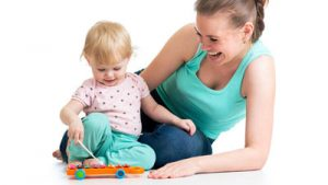 Mum and Baby with Xylophone doing music